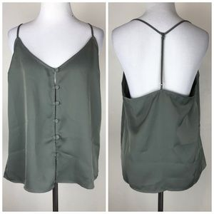 NWT L'Academie T Strap Back Camisole